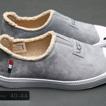 """UGG"" Men Breathable Fashion Slip On Loafer Casual Plate Shoes"