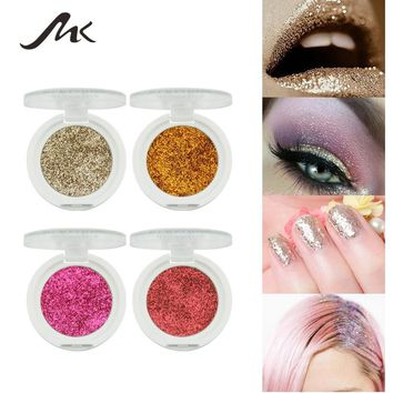 MK Brand PRO Makeup Lip Eye Body Hair Glitter Makeup Powder Diamond Gel EyeShadow Palette Eyes Face Makeup Cosmetic Beauty New