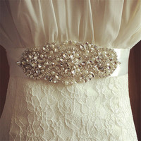Wedding Accessories Discount Real Picture Crystal Beads Shinny  Charming Bridal Belt Women Sashes