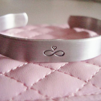 "I Love You To Infinty And Beyond 3/8"" Cuff Bracelet Made To Order"