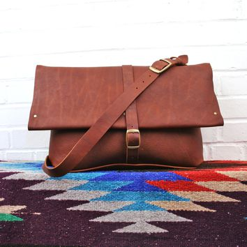 Clark Street Leather Messenger Bag