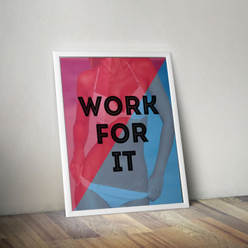 Fitness Motivation | Fitness Motivational Print | Gym Motivational Poster | Motivational Quote | Motivational Wall Decor | Typographic Print