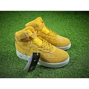 Nike Air Force 1 High AF1 Yellow White Shoes