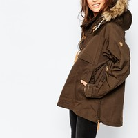 Fjallraven Faux Fur Trimmed Lightweight Parka