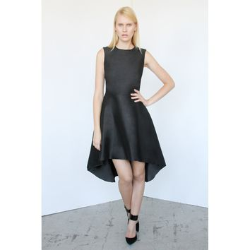 Black Round Neck Sleeveless Cocktail Dress