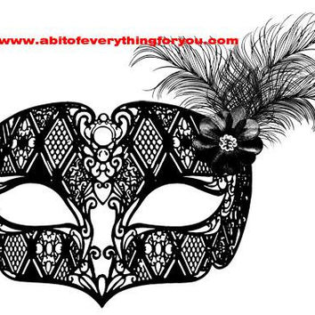 filigree bird feathers mask masquerade clipart png mardi gras Digital Download printable art large Image graphics digital stamp crafts