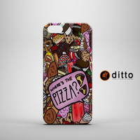 WHERE'S THE PIZZA Design Custom Case by ditto! for iPhone 6 6 Plus iPhone 5 5s 5c iPhone 4 4s Samsung Galaxy s3 s4 & s5 and Note 2 3 4