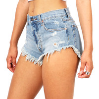 Reckless Frayed Shorts | Denim Shorts at Pink Ice