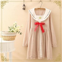 Lolita Sailor Collar Long Sleeve Dress