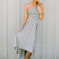 Heather Striped Swing Dress