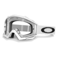 Oakley Proven MX Goggles, Frame/Clear Lens (Matte White, One Size)