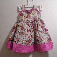 WHOLESALE TWO dress Red Blue Flower Braces Layered Dress