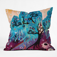 Natasha Wescoat Willow Blue Throw Pillow