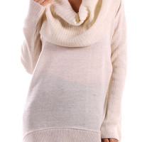 Cowl Neck Sweater -Oatmeal