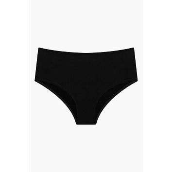 High Waist Bikini Bottom - Original Black