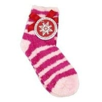 Bath & Body Works Lounge Socks Infused with Shea Butter - Pink Stripe $10.95