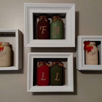 White Framed Shadow Boxes - 4 Framed Shadow Boxes - Picture Frame Shadow Boxes