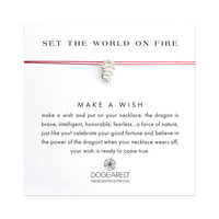 Set the World on Fire Dragon on Silk, Sterling Silver | Dogeared