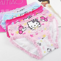 2014 new fashion children hello kitty panties girls' briefs female child underwear cartoon panties Shorts JJAL ZG115