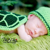 Turtle Shell, Hat, And Diaper Cover.. on Luulla
