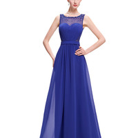 Beaded Sequin Royal Blue Evening Dress  Elegant Dinner Party Dress Blue/Black/White/Green Evening Gowns