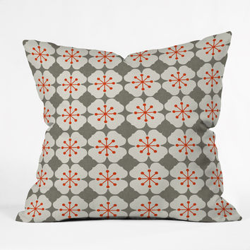 Holli Zollinger Flowerjacks Throw Pillow