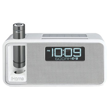 Ihm Dual-charging Bluetooth Stereo Alarm Clock Radio And Speakerphone With Nfc & Removable Power (white)