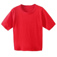 Red Short Sleeve Cropped Sweater