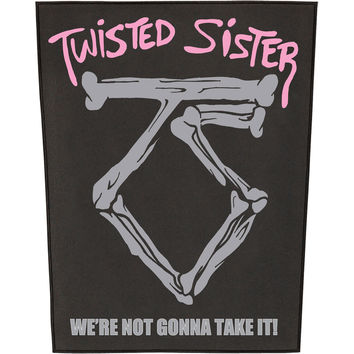Twisted Sister Men's We're Not Gonna Take It Back Patch Black