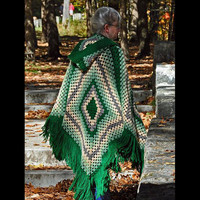 Crochet Hooded Poncho Shawl   Custom Order