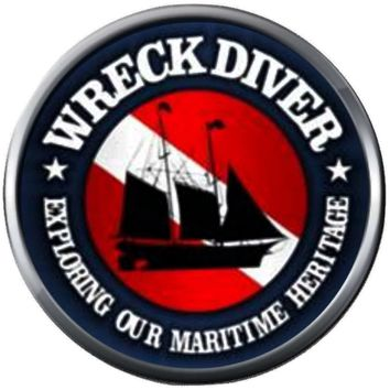 Wreck Diver Explore Marine Heritage Ship Scuba Diver Down Flag 18MM - 20MM Snap Charm New Item