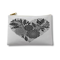 Gray floral heart