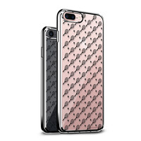 LUXENDARY TENNIS RACKET AND BALL PATTERN TEXTURE PRINTED COOL DESIGN STYLISH CHROME SERIES CASE FOR IPHONE 7 PLUS