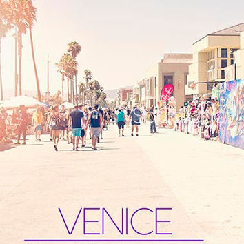 Venice Beach Boardwalk Photography California Summer Seaside Los Angeles