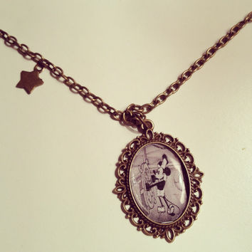 Disney Mickey Mouse Cameo Necklace  by RabbitJewellery on Etsy