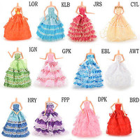 """1 X Fashion Handmade Dress 12 Styles Party Dress Clothes Gown For 11"""" Barbie KEW"""