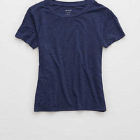Aerie Baby Tee, Navy Heather