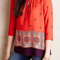 NWT Anthropologie Rila Bordered Blouse Sz 10 - By Maeve