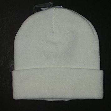 Authentic NFL Dallas Cowboys Classic White Cuffed Knit Hat Beanie Cap