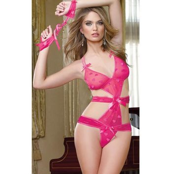 Hot Deal Sexy On Sale Cute Heart Exotic Lingerie [6595687555]