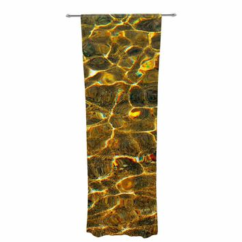 "Iris Lehnhardt ""Reflection"" Gold Yellow Pattern Abstract Photography Digital Decorative Sheer Curtain"