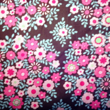 NEW Cotton Quilting Fabric BY the YARD, Floral print, Crazy Love Victoria by Jennifer Paganelli for Free Spirit - Pretty Pinks and Brown