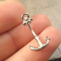 Anchor Daith Eyebrow Ring Rook Ear Piercing