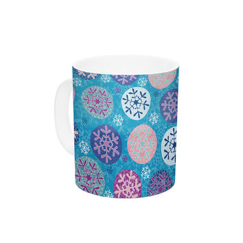 "Julia Grifol ""Floral Winter"" Ceramic Coffee Mug"