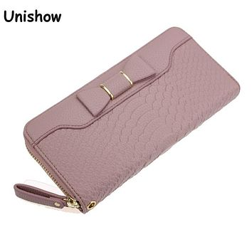Alligator PU leather women wallet brand long zipper wallet women clutch fashion purse female vintage style women purse bag