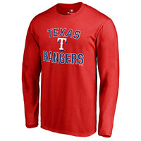 Texas Rangers Victory Arch Long Sleeve T-Shirt - Red