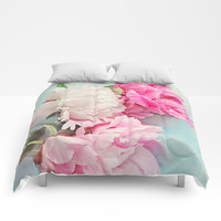 3 peonies Comforters by Sylvia Cook Photography