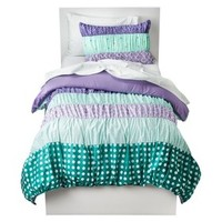 Circo® Dots & Stripes Ruched Bed Set - Purple