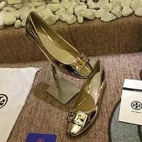 Tory Burch Women Fashion Leather Low Heeled Shoes