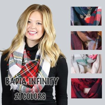 21 Colors Winter Chic Knit Acrylic Infinity Scarf